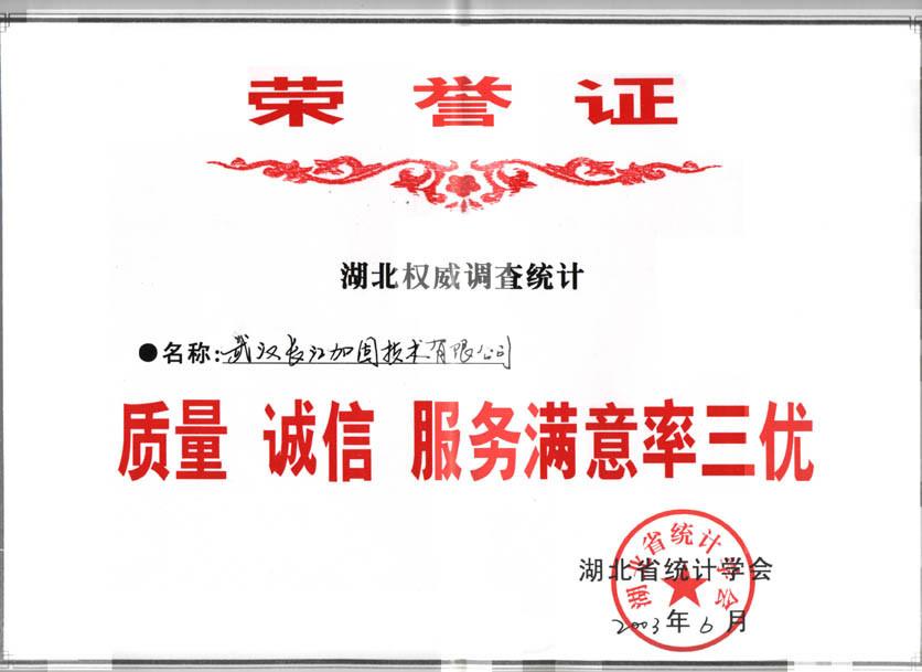 """獲武漢市建設委員會授予安全生產""""先進單位""""稱號"""