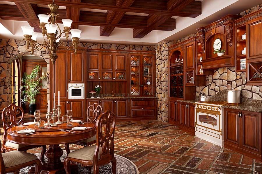 实木 美式橱柜