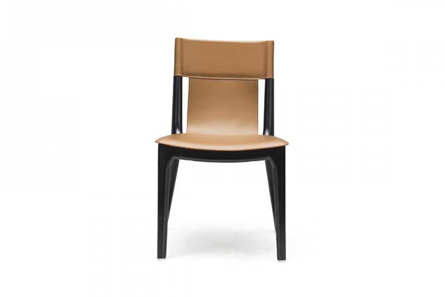 意式極簡馬鞍皮餐椅