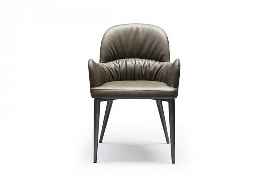 意式極簡扶手餐椅
