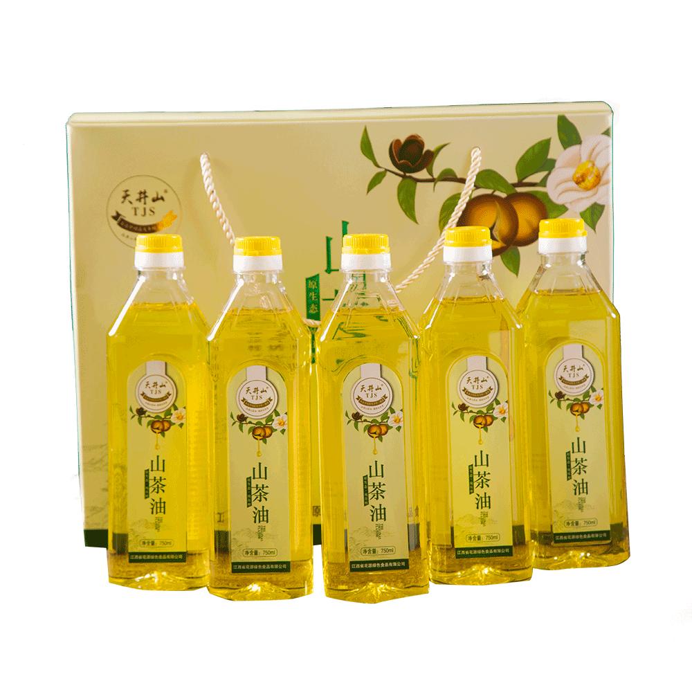 750ml五瓶装纯正山茶油
