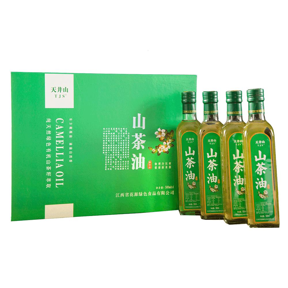 500ml四瓶装山茶油黄金配比