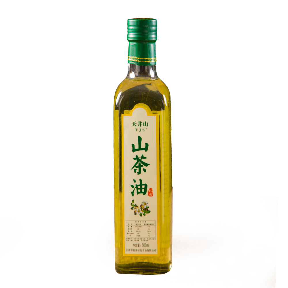 500ml纯正红花山茶油