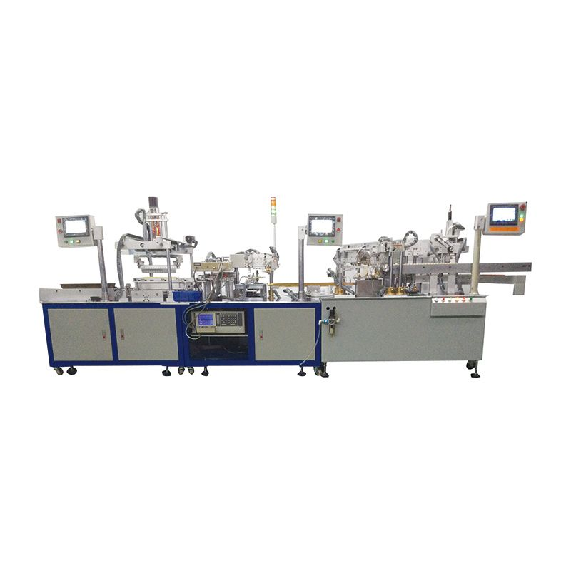 Magnetic core assembly plastic testing machine